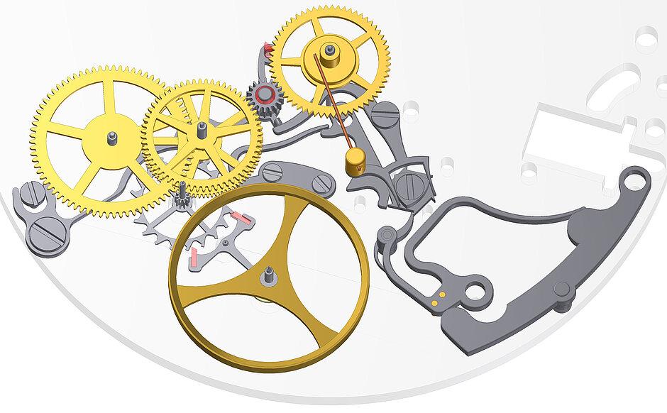 Modell 41 | Mechanismus Wechselsekunde