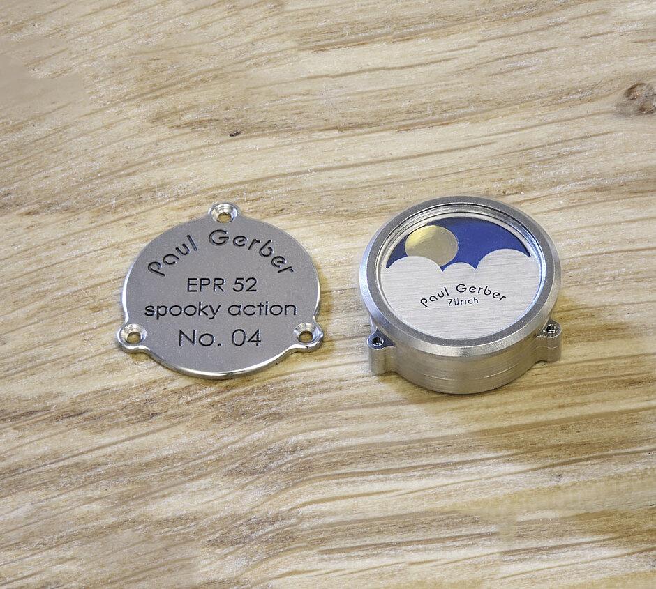 Modell EPR 52 Mondphase I im Titangehäuse